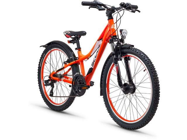 s'cool troX urban 24 21-S Børnecykel orange (2019) | City